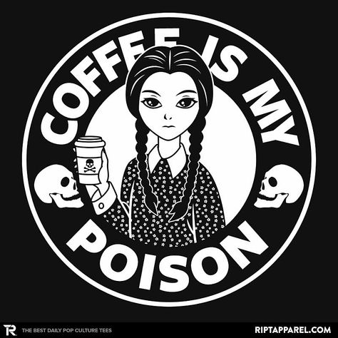 """Coffee Is My Poison"" by BoggsNicolas Inspired by Wednesday Addams Coffee Talk, Coffee Is Life, I Love Coffee, My Coffee, Coffee Drinks, Coffee Shop, Coffee Cups, Coffee Humor, Coffee Quotes"