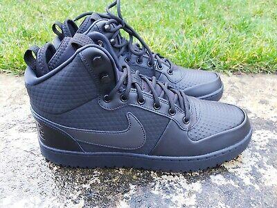 Nike Court Borough Mid Winter Black Sizes 7 Uk 8 Uk 9 Uk 10 Uk Ebay Black Suede Trainers Nike All Black Sneakers