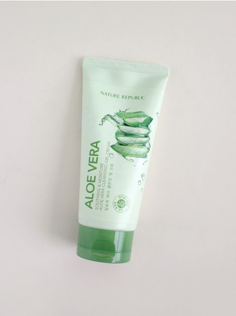 Buy Nature Republic Aloe Vera Cleansing Gel Cream 150ml At Althea Aloeverabeautyrecipies Cleansing Gel Gel Cream Aloe Vera Skin Care