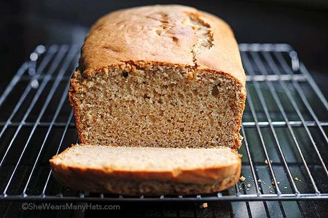 Quick Peanut Butter Bread Recipe | shewearsmanyhats.com