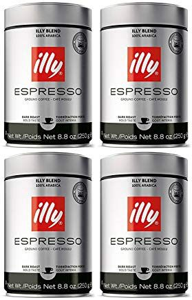 Illy Ground Espresso Dark Roast Coffee 88 Oz Pack Of 4