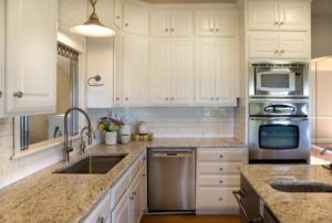 Updated Kitchen With Benjamin Moore S Bm Cloud White Cabinets And Bm Twee Painting Kitchen Cabinets White Light Grey Kitchen Cabinets Kitchen Cabinet Design