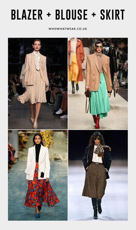 Autumn 2019 trends: Blazer, blouses and skirts at Burberry, Fendi, Celine and Carolina Herrera