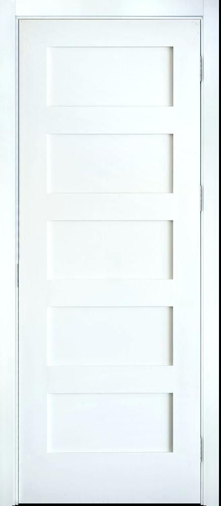 Shaker Interior Doors White 5 Panel Solid Core Shaker Mission Style Interior Door In 2 Panel Shaker In White Interior Doors Interior Door Styles Doors Interior
