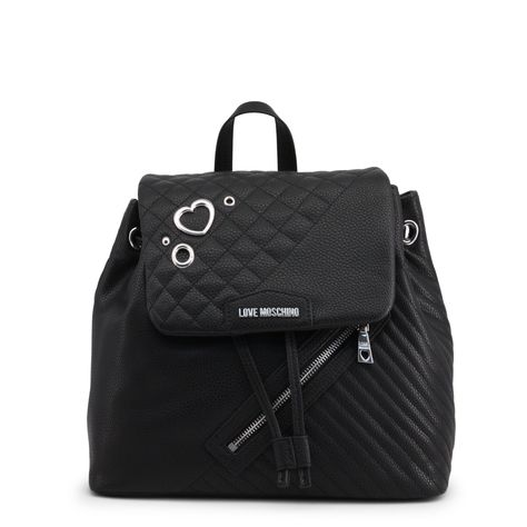 b3de74f03 Love Moschino Black Faux Leather Rucksack JC4076PP16LL FREE SHIP in ...