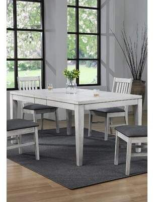 Gracie Oaks Hooten Extendable Dining Table Wayfair Dining Table Extendable Dining Table Dining Table With Leaf