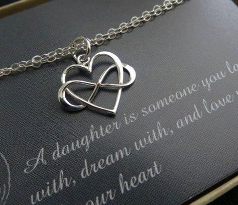 Great gift idea for your daughter on her wedding day. Entwined infinity heart bracelet in your choice of silver or gold finish. very dainty and timeless. Choose from fine sterling silver or gold vermeil charm with fine cable chain. lobster clasp closure. charm size-16mm wide. chain