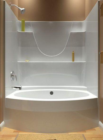 Tub Shower Combo, 1 Piece Fiberglass Tub Shower