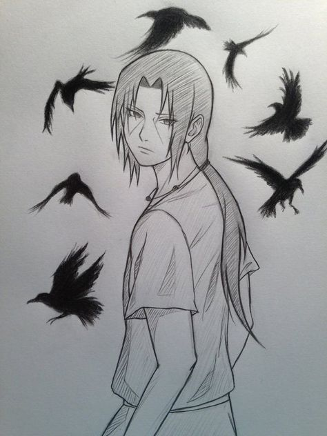 55 Beautiful Anime Drawings Cuded Itachi Uchiha Art Naruto Sketch Naruto Drawings