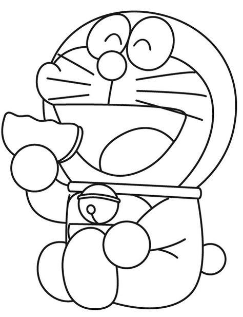 Gambar Mewarnai Doraemon 2 Aktiviti Ank2
