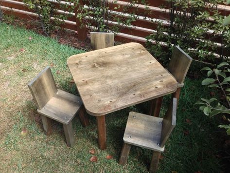 Solid Wood Childrens Table And Chairs Cheap Garden Plastic Kids Handmade At Jason Varley Designs Non