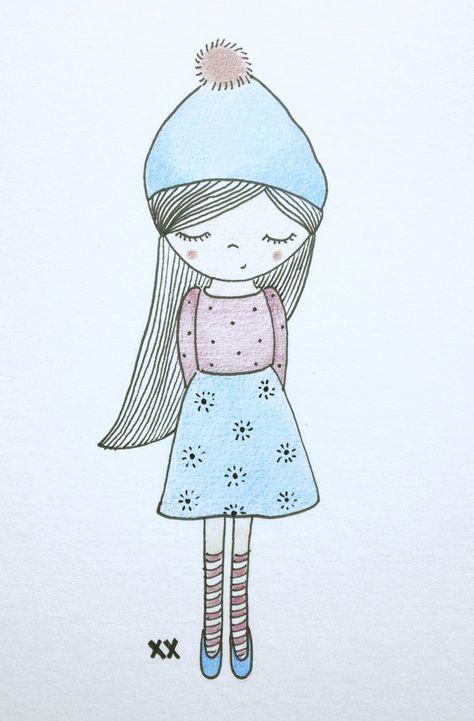 meisje illustratie | girl illustration
