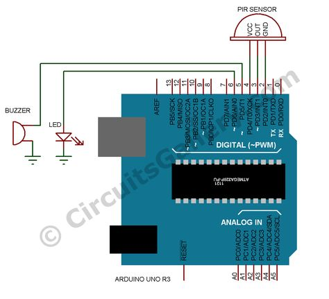 Build Arduino Based Home Security System Using Pir Motion Sensor Home Security Best Home Security Wireless Home Security Systems
