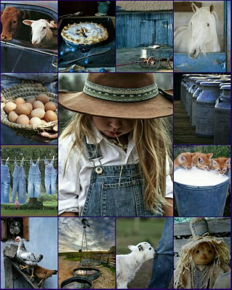 Country blues - collage by Renée