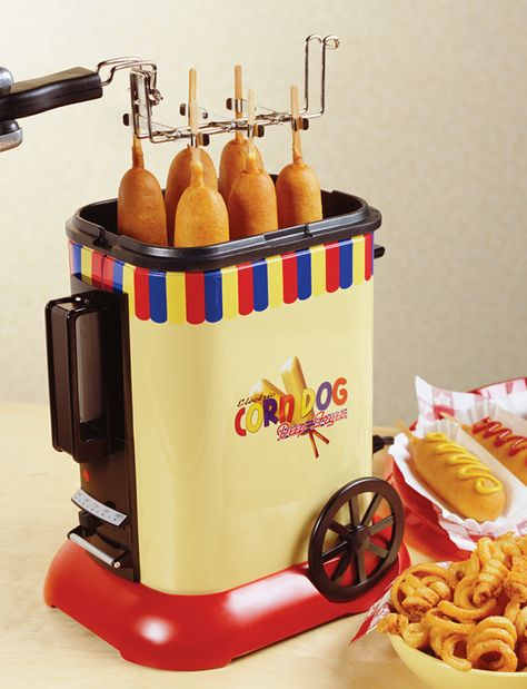 Nostalgia Electrics Old Fashioned Corn Dog Maker Cool Kitchen Gadgets, Home Gadgets, Cooking Gadgets, Kitchen Items, Kitchen Hacks, Cool Kitchens, At Home Movie Theater, Home Theater Rooms, Cinema Room