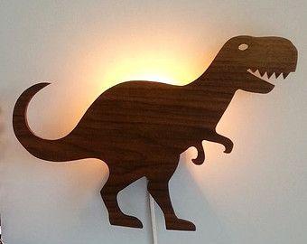 Dinobiss Mich Dinosaurier Lampe Licht Kinderzimmer Weihnachtsgeschenk Retro Holz Dino Monster Dinobiss Dinosaurier Kind Kids Room Dino Lamp Boy Room