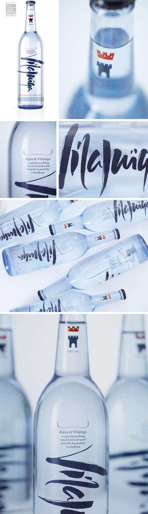 Award-winning rebrand of Aigua de Vilajuïga mineral water by Studio h