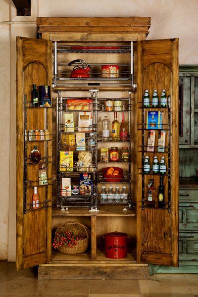Superb Wood Kitchen Pantry Design Ideas