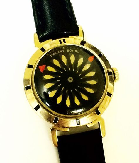 Ernest Borel 17 Jewels Kaleidoscope Dial 14K by NumberOneWatch