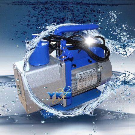Hot Sale Hvac Ac Air Tool Double 2 Stage 4cfm 1 3hp Rotary Vane Deep Vacuum Pump Silver Vacuum Pump Air Tools Hvac