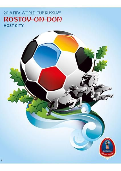 Fifa World Cup 2018 Russia Official Host City Poster Rostov On Don Sports Endeavors Russia World Cup World Football World Cup