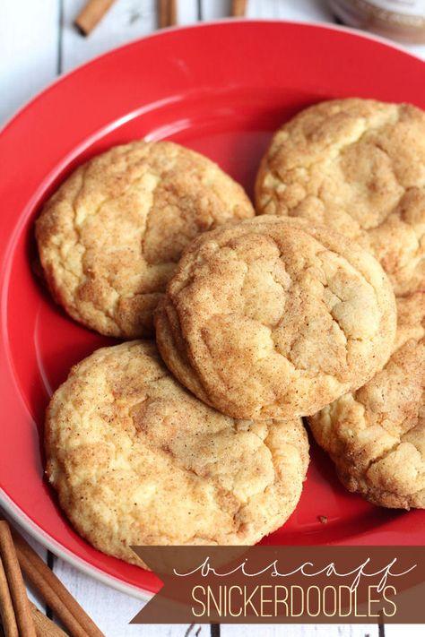 Soft and Delicious Biscoff Snickerdoodles on { lilluna.com }
