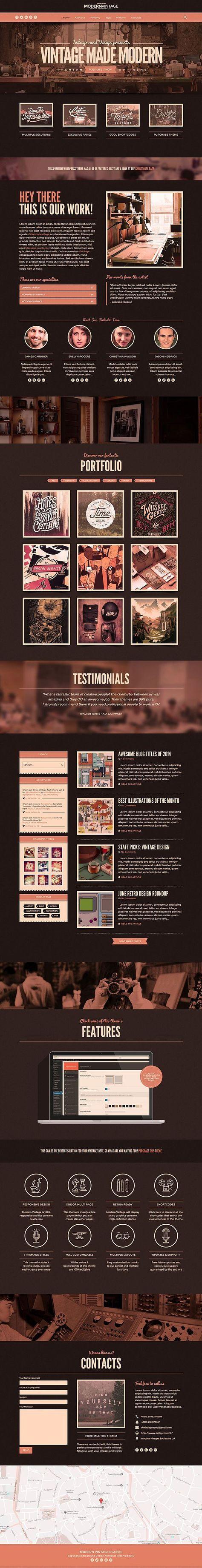 pinterest.com/fra411 #webdesign  Modern Vintage WordPress Theme on Behance - Wordpress Magazine Theme - Ideas of Wordpress Magazine Theme #wordpresstheme #magazinetheme -   pinterest.com/fra411 #webdesign  Modern Vintage WordPress Theme on Behance