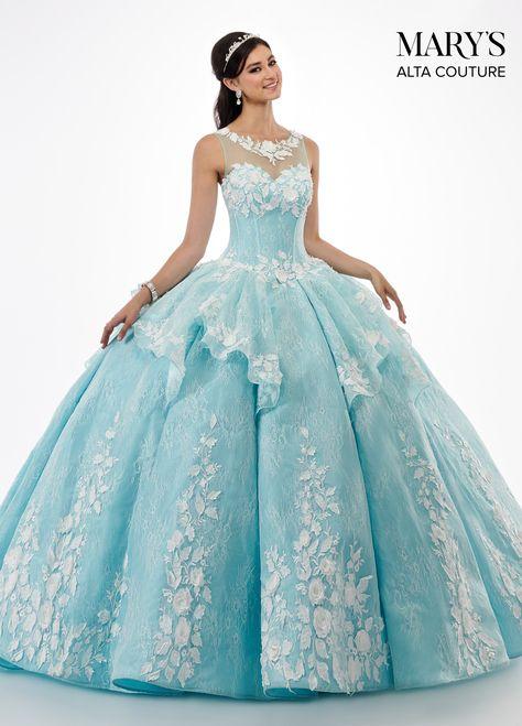 3D Floral Applique Lace Quinceanera Dress by Alta Couture MQ3029