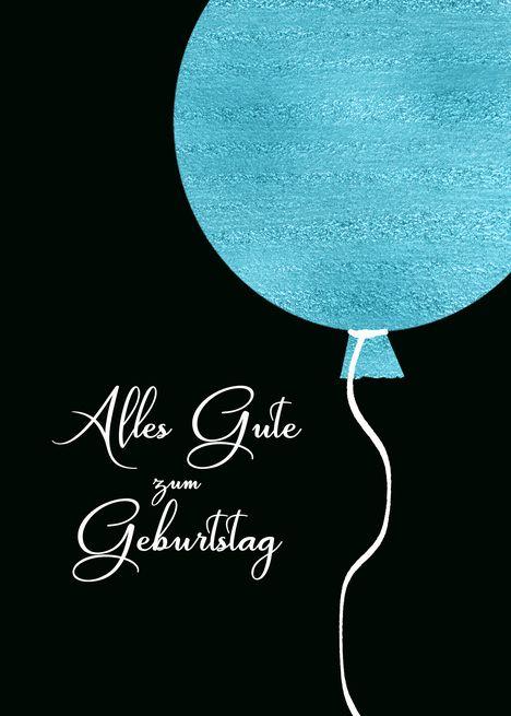 Happy Birthday In German Blue Glitter Foil Effect Balloon Card Ad Ad German Blue Happy Birthday Happy Birthday In German Happy Birthday Balloons