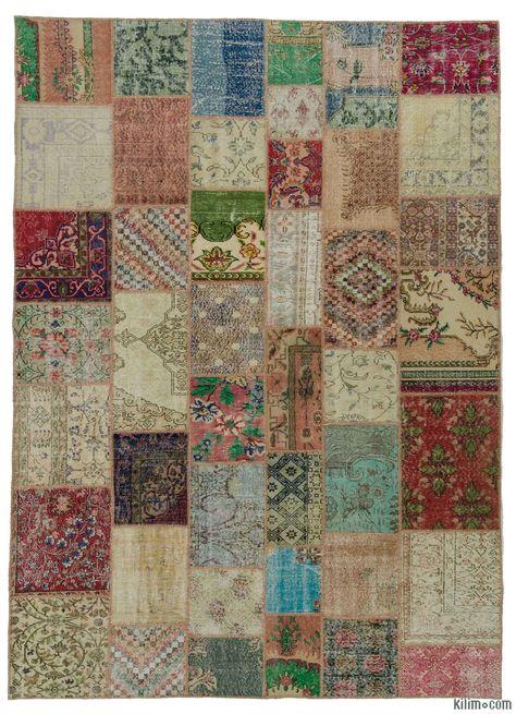 Multicolor Turkish Patchwork Rug 8 4