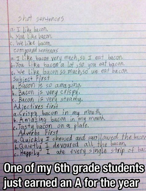 Student gets an A for the year.
