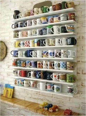 25 Creative Diy Mug Coffee Rack Ideas Mug Storage Coffee Mug Storage Coffee Mug Display