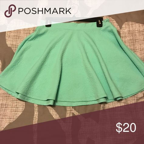 Teal Mini Skirt Stretchy and comfortable! Perfect to pair with a white crop top! Excellent quality. Skirts Mini