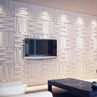 Orren Ellis 3d Fibre Decorative Wall Panels Paintable Plant Fibre Design Textured Eco Friendly Modern Wall Decor Bladet Brick Wall Paneling 3d Brick Wall Panels Wall Panels