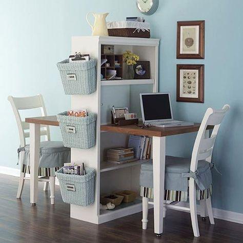 Une double construit à partir d'une étagère / A double desk on a shelf
