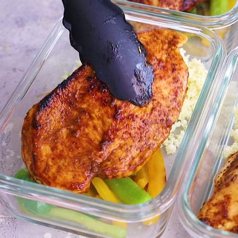 Santa Fe Chicken Low Carb Meal Prep Bowls