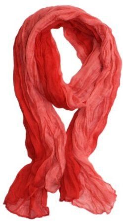 LibbySue-Ombre Watercolor Wash Crinkle Scarf in Multiple Colors