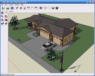 planos de casas modernas sketchup