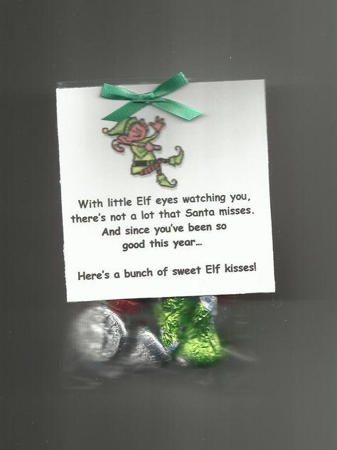 This little baggie contains Elf Kisses. Each bag has a cute little poem. Baggies measure 3