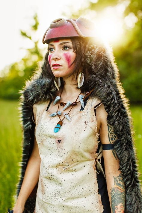 San from Princess Mononoke Cosplayer: Ladee Danger, Photographer: Elysiam Entertainment