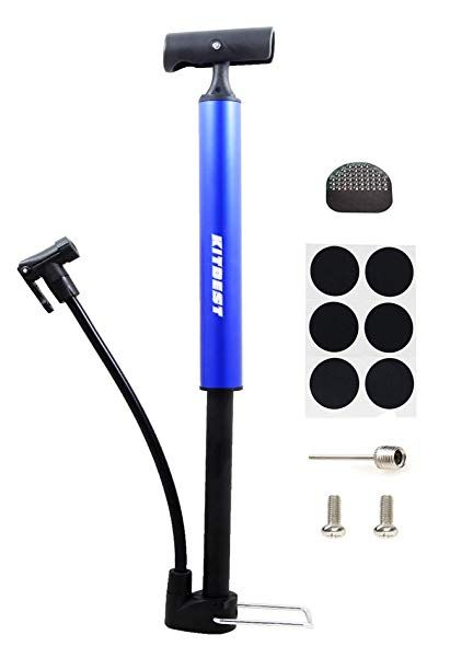 Bike Pump Bicycle Pump With Glueless Puncture Kit Fits Presta And