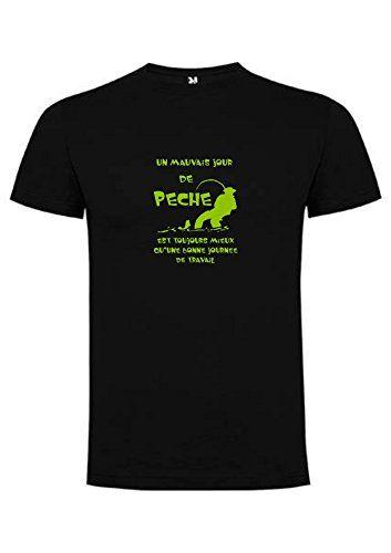 Steefshirt - Tee-shirt pêche (S Noir)