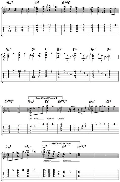 Misty Jazz Guitar Chords - Comping Study - The Jazz Guitar Blog ...