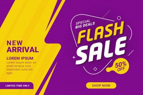 Flash sale discount banner template promotion Premium Vector | Premium Vector #Freepik #vector #background #banner #business #sale