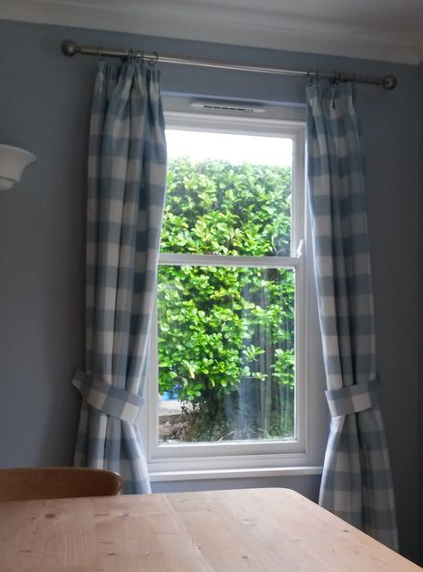 Laura Ashley Whitby Check Fabric Curtains with Tiebacks sewing diy ...