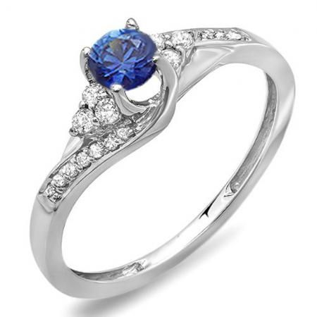 7fdc6c2edd8 3.64 CTTW Engagement Ring Set Made with Swarovski Elements Crystals  (2-Piece)