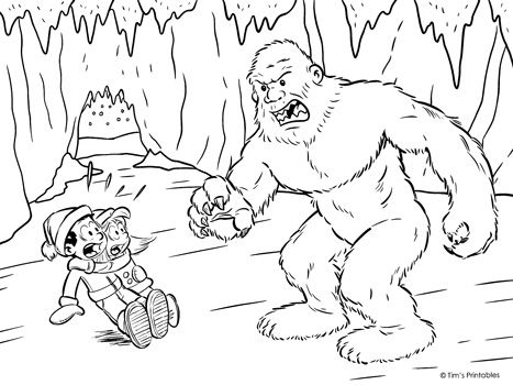 Yeti Coloring Page Tim S Printables Coloring Pages Art Themes Winter Printables