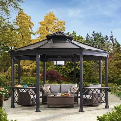 12 Ft W X 12 Ft D Solid Wood Patio Gazebo Patio Gazebo Garden Gazebo Backyard Gazebo