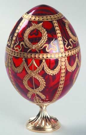 Crystal Gold Faberge Easter Egg Russian Imperial Royal Trinket Jewellery Leg Box