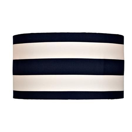 16 Inch Deck Stripe Drum Shade Update Any Table Or Floor Lamp With This Bold Railroad Washer Spider Ing Choice Of Black Navy Blue